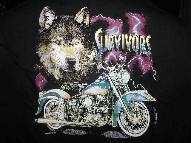 Wolf Motorcycle - T-shirt survivors